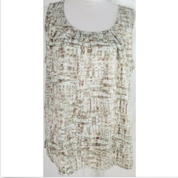 Chico's Tops - Chico's Women's Shell Large 12 Top Sleeveless Work